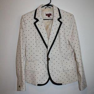 Merona White and Black Blazer Business Jacket